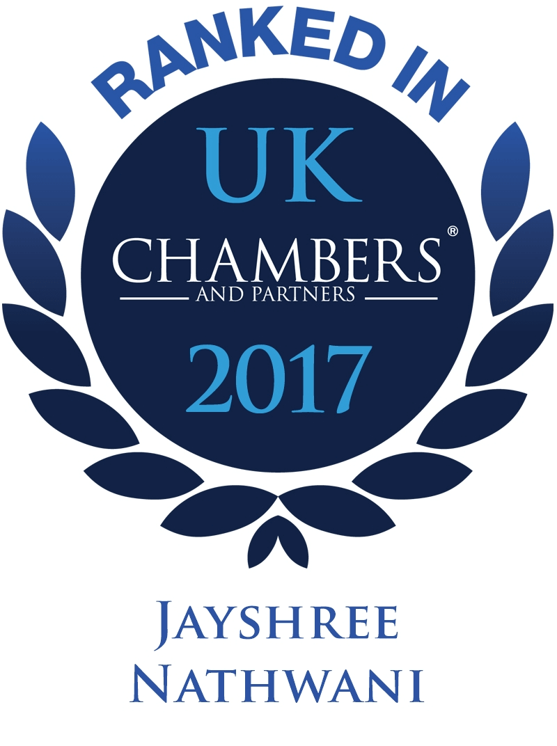 Graphic for Ranked in Chambers - Jay Nathwani