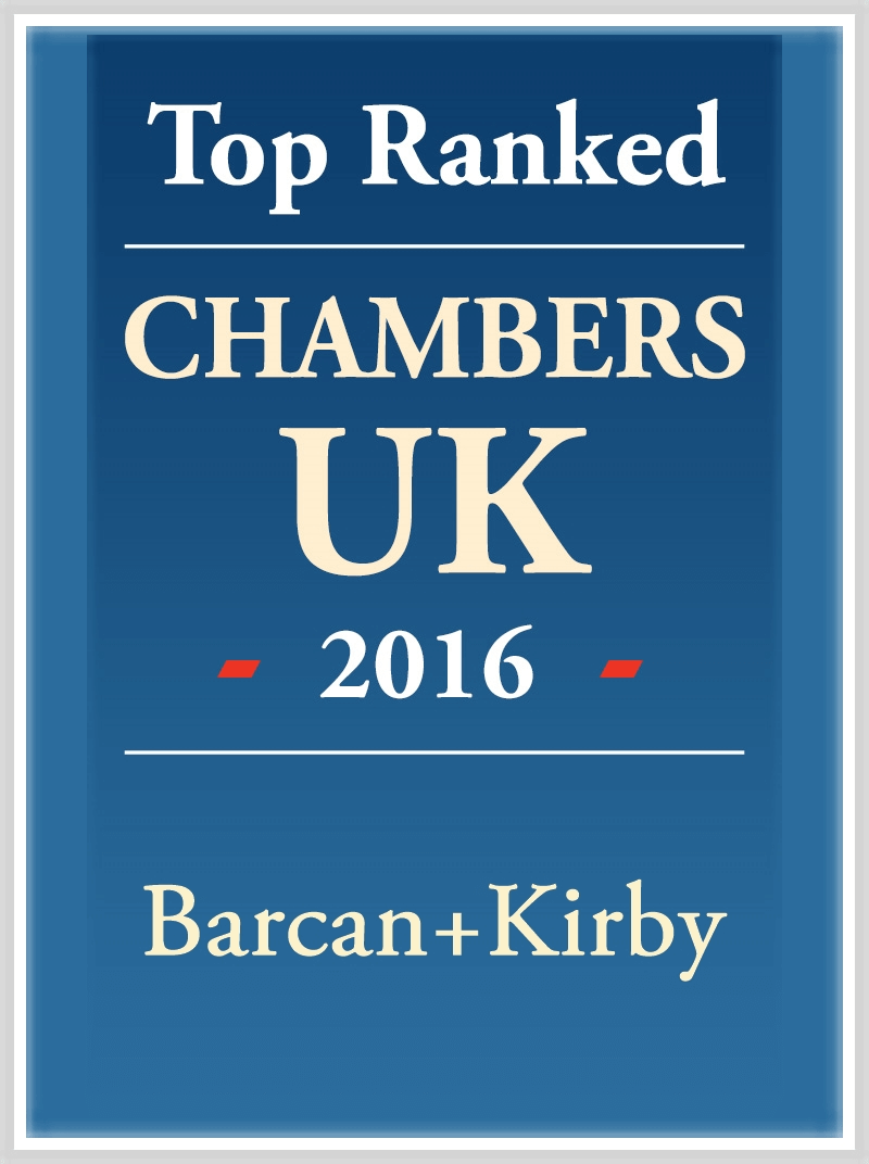 Graphic for Top ranked in Chambers