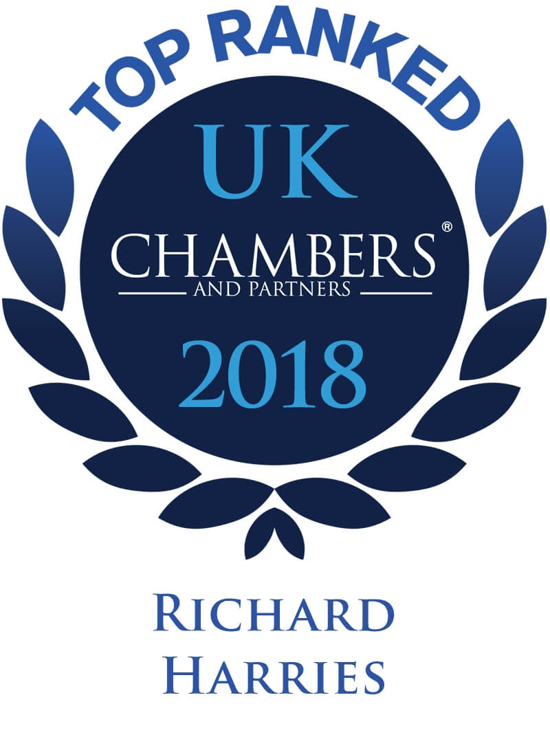 Graphic for Top ranked in Chambers - Richard Harries