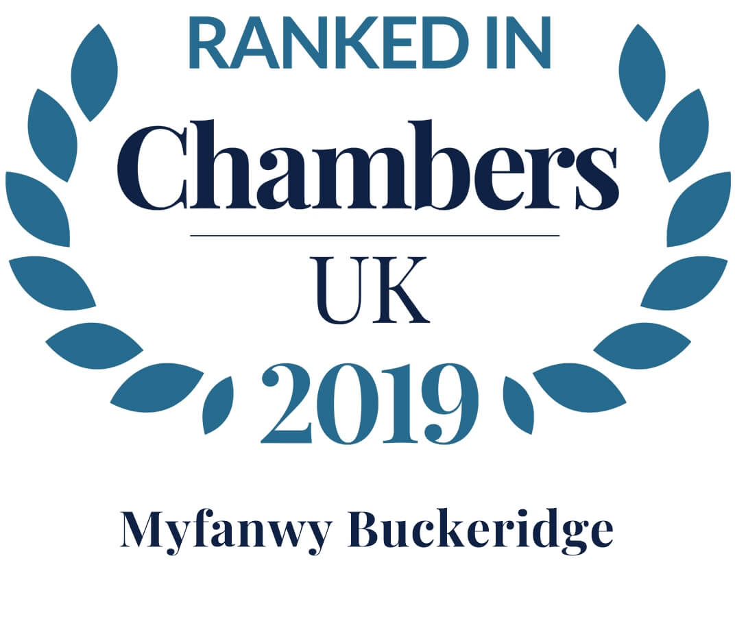 Graphic for Ranked in Chambers - Myfanwy Buckeridge