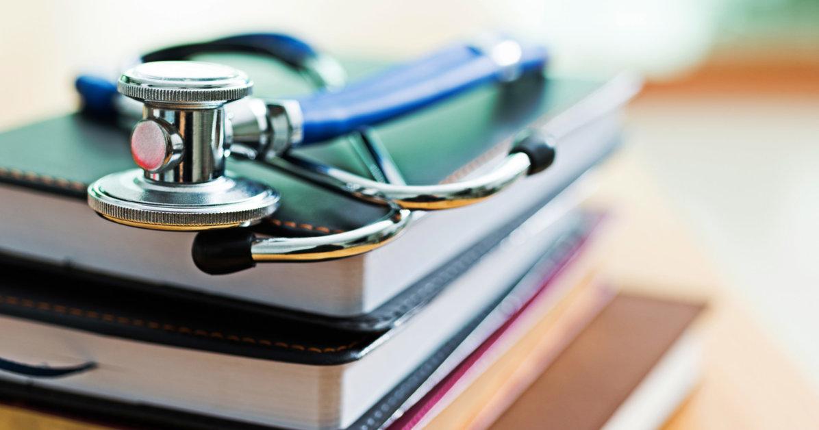 Medical-stethoscope-on-books